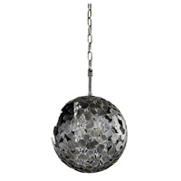Belladonna 1 Light 12 inch Antique Silver Leaf Mini Pendant Ceiling Light
