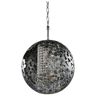 Belladonna 4 Light 18 inch Antique Silver Leaf Chandelier Ceiling Light