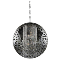 Kalco Lighting Belladonna 4 Light Chandelier in Antique Silver Leaf 306950AF
