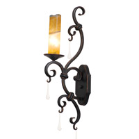 Palladium 1 Light 5 inch Toscana Wall Sconce Wall Light in Calcite (CALC), Without Shade, Antique Copper