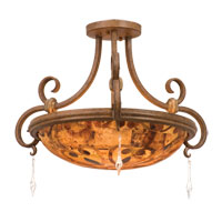 Kalco Palladium 3 Light Semi Flush Mount in Toscana 3078TC/PS121