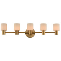 Kalco 308435WB Harlowe LED 34 inch Winter Brass Bath Vanity Wall Light