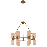 Kalco 308470WB Harlowe 12 Light 28 inch Winter Brass Chandelier Ceiling Light