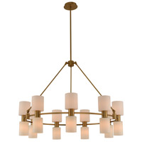 Kalco 308471WB Harlowe 12 Light 40 inch Winter Brass Chandelier Ceiling Light