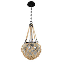Hatteras 3 Light 12 inch Satin Bronze Pendant Ceiling Light FALL CLEARANCE