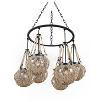 Hatteras 6 Light 35 inch Satin Bronze Chandelier Ceiling Light FALL CLEARANCE