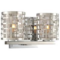 Kalco 308732SL Bridgeport 2 Light 10 inch Stainless Steel Vanity Light Wall Light