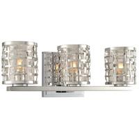 Kalco 308733SL Bridgeport 3 Light 16 inch Stainless Steel Vanity Light Wall Light