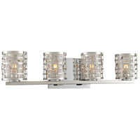 Kalco 308734SL Bridgeport 4 Light 22 inch Stainless Steel Vanity Light Wall Light