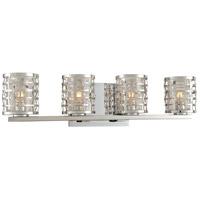 Kalco 308734SL Bridgeport 4 Light 22 inch Stainless Steel Vanity Light Wall Light