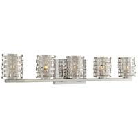 Kalco 308735SL Bridgeport 5 Light 28 inch Stainless Steel Vanity Light Wall Light