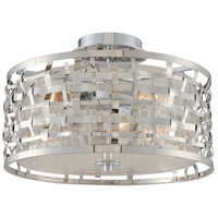 Kalco 308740SL Bridgeport 3 Light 16 inch Stainless Steel Semi Flush Mount Ceiling Light