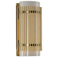 Edgewater LED 10 inch Vintage Brass Vanity Light Wall Light