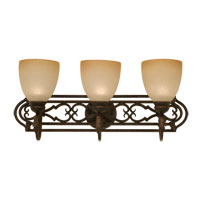 Kalco Avondale 3 Light Bath Light in Antique Copper 3093AC/1305