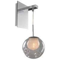 Meteor 1 Light 6 inch Chrome Wall Bracket Wall Light in Clear