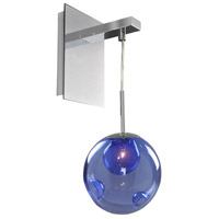 Kalco 309520CH/SAPPH Meteor 1 Light 6 inch Chrome Wall Sconce Wall Light in Sapphire