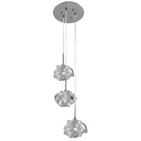 Kalco 309641CH Azure 3 Light 10 inch Chrome Pendant Ceiling Light