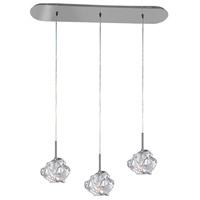 Azure 3 Light 32 inch Chrome Island Light Ceiling Light