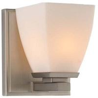 Kalco 310631SN Huntington 1 Light 5 inch Satin Nickel Vanity Light Wall Light