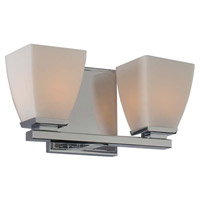 Kalco Chrome Glass Bathroom Vanity Lights