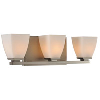 Huntington 3 Light 19 inch Satin Nickel Vanity Light Wall Light