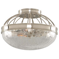 Montauk 2 Light 12 inch Polished Nickel Flush Mount Ceiling Light