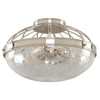 Montauk 3 Light 14 inch Polished Nickel Flush Mount Ceiling Light