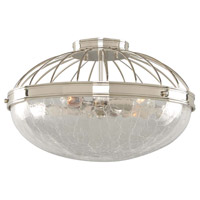 Kalco 311342PN Montauk 3 Light 16 inch Polished Nickel Flush Mount Ceiling Light