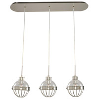 Montauk 3 Light 32 inch Polished Nickel Island Light Ceiling Light