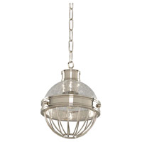 Kalco 311350PN Montauk 1 Light 7 inch Polished Nickel Mini Pendant Ceiling Light