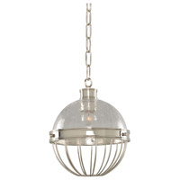 Kalco 311351PN Montauk 1 Light 9 inch Polished Nickel Pendant Ceiling Light