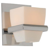 Kalco 311631CH Malibu 1 Light 5 inch Chrome Vanity Light Wall Light