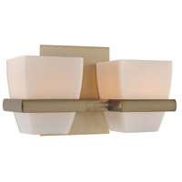 Malibu 2 Light 10 inch Brushed Bronze Vanity Light Wall Light