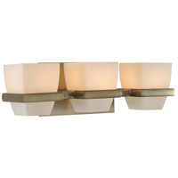 Malibu 3 Light 16 inch Brushed Bronze Vanity Light Wall Light