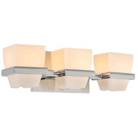 Malibu 3 Light 16 inch Chrome Vanity Light Wall Light