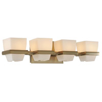 Malibu 4 Light 22 inch Brushed Bronze Vanity Light Wall Light