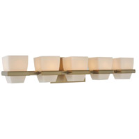 Malibu 5 Light 29 inch Brushed Bronze Vanity Light Wall Light
