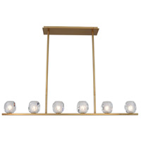 Kalco 311760WB Stella LED 46 inch Winter Brass Island Light Ceiling Light