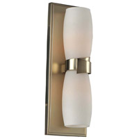 Kalco 311822SG Laguna 2 Light 5 inch Satin Gold ADA Wall Sconce Wall Light