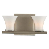 Morro Bay 2 Light 9 inch Satin Nickel Vanity Light Wall Light