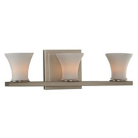 Kalco 312033SN Morro Bay 3 Light 15 inch Satin Nickel Vanity Light Wall Light