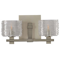 Clearwater 2 Light 14 inch Satin Nickel Vanity Light Wall Light