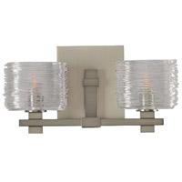 Kalco 312132SN Clearwater 2 Light 14 inch Satin Nickel Vanity Light Wall Light