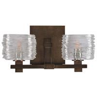 Kalco 312132VBZ Clearwater 2 Light 14 inch Vintage Bronze Vanity Light Wall Light
