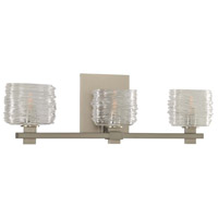 Spun Glass Clearwater Bathroom Vanity Lights