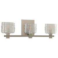 Kalco 312133SN Clearwater 3 Light 21 inch Satin Nickel Vanity Light Wall Light