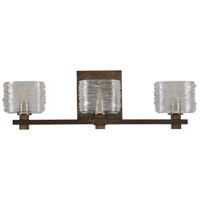 Kalco 312133VBZ Clearwater 3 Light 21 inch Vintage Bronze Vanity Light Wall Light