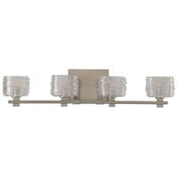 Kalco 312134SN Clearwater 4 Light 29 inch Satin Nickel Vanity Light Wall Light