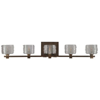 Clearwater 5 Light 37 inch Vintage Bronze Vanity Light Wall Light