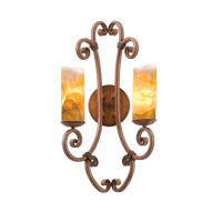 Kalco Lighting Stratford 2 Light Wall Sconce in Bellagio with Natural Calcite Shade 3124BG/CALC photo thumbnail